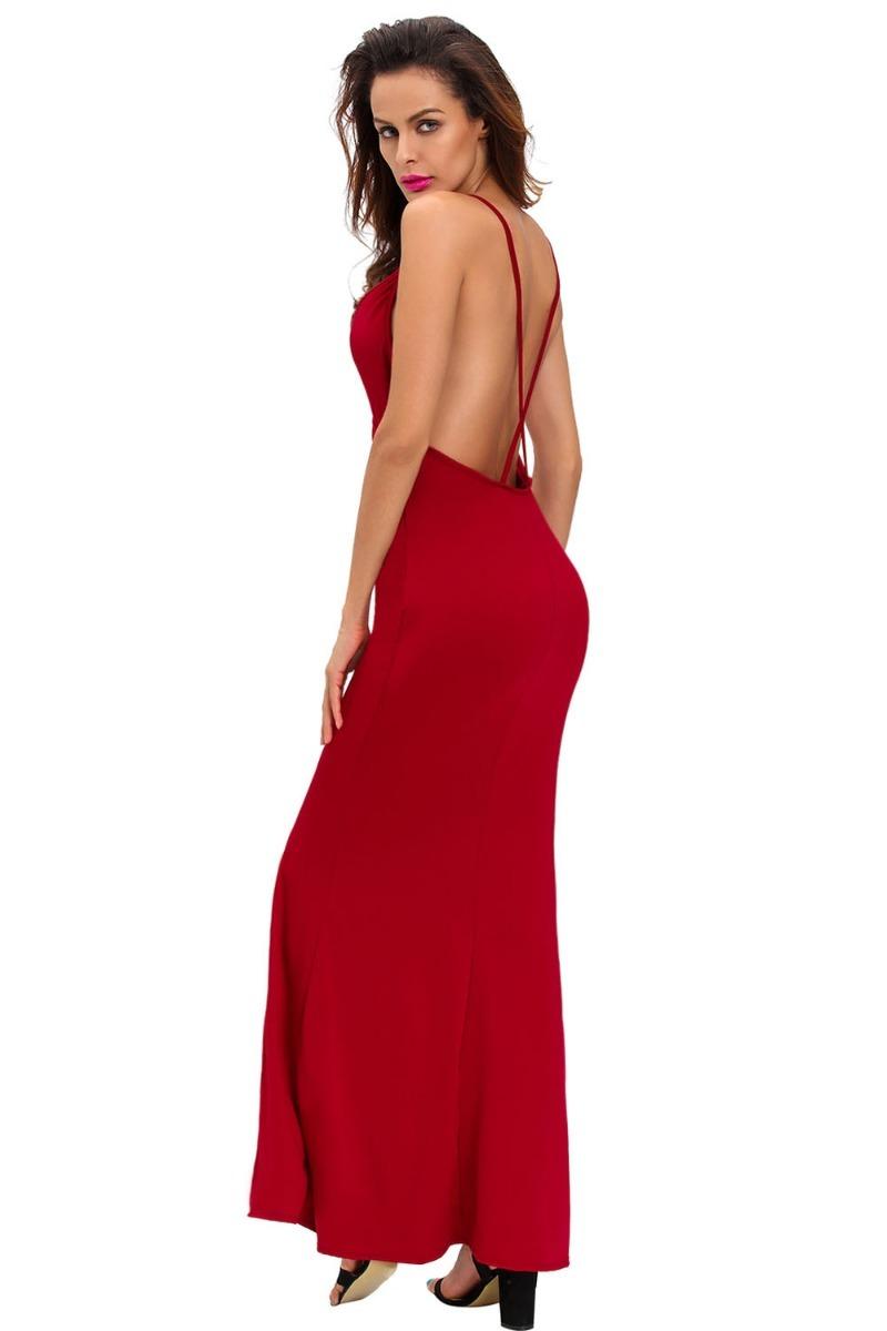 63039e1f4c sexy vestido rojo largo elegante espalda descubierta 61122. Cargando zoom.