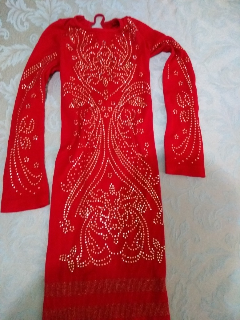 sexy vestido rojo licra ajustado corto manga larga moda. Cargando zoom. 06c7c3de3042