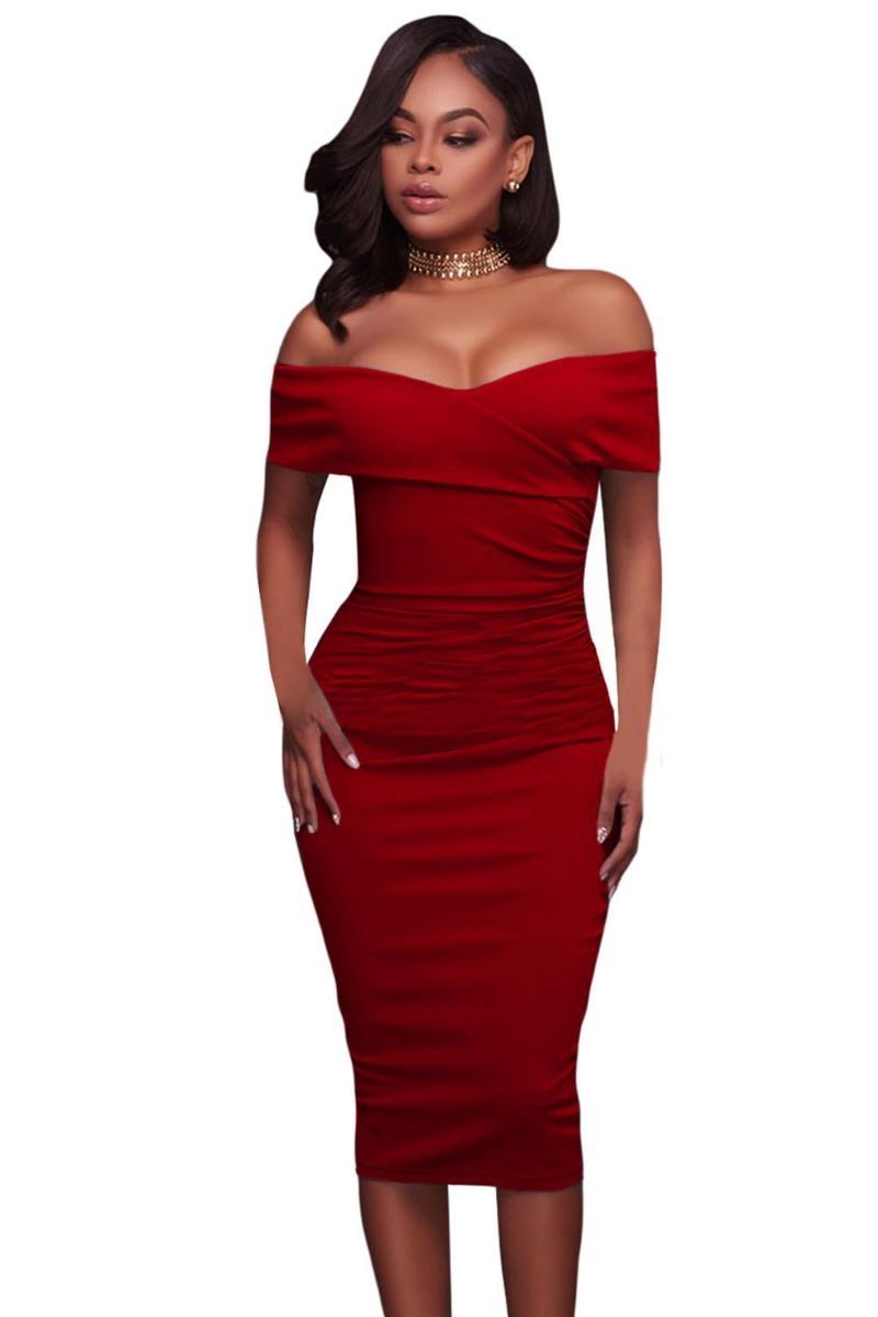 c321affa91 sexy vestido rojo quemado entallado strapless elegante 61507. Cargando zoom.