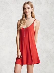 Sexy Vestido Rojo Quemado Forever 21