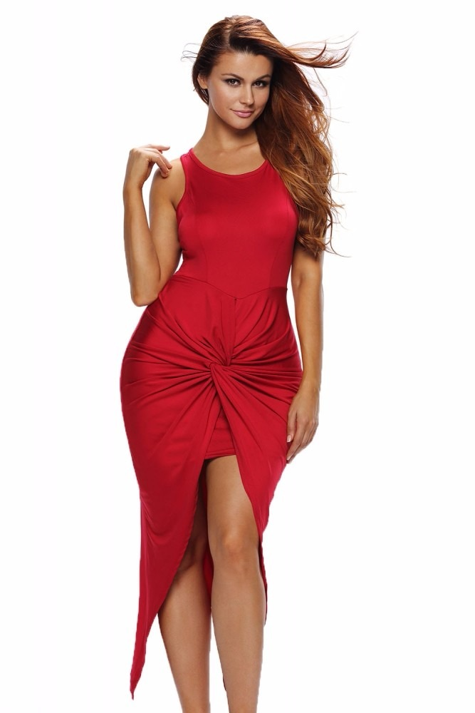 Vestidos rojos sin manga