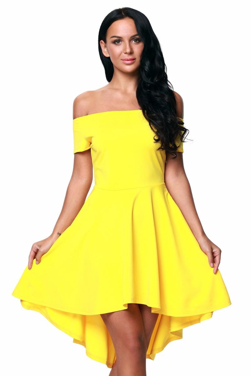 ebf455099 sexy vestido strapless amarillo m. corta moda retro 61346. Cargando zoom.