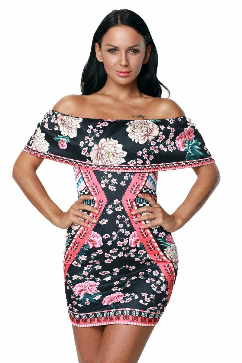 f0ddb07ab sexy vestido strapless estampado flores fiesta moda 22930. Cargando zoom.