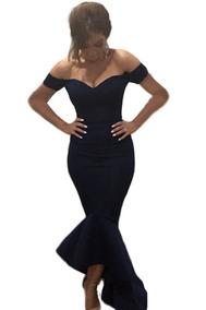 f8a96322a97e Sexy Vestido Strapless Largo Elegante Mermaid Negro 60171