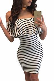 4256059c9 Sexy Vestido Strapless Moda Blanco Negro Antro Fiesta 22792