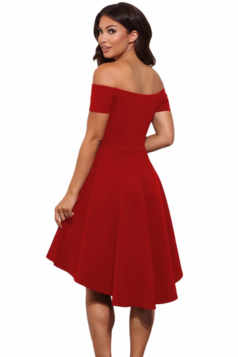 fb0911478 sexy vestido strapless rojo manga corta moda retro 61346. Cargando zoom.