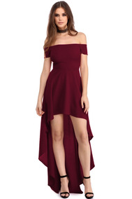 7c7d413a4bc Sexy Vestido Strapless Vino Asimetrico Largo Elegante 61437