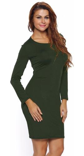 sexy vestido verde agujetas espalda desnuda moda antro 22840
