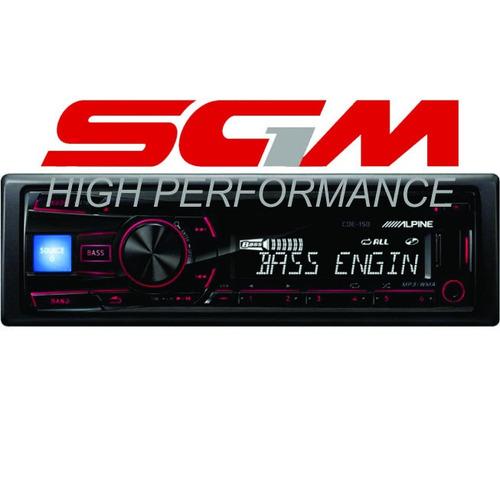 sgm1 estereo alpine cde-150 rep oficial cd-mp3-usb