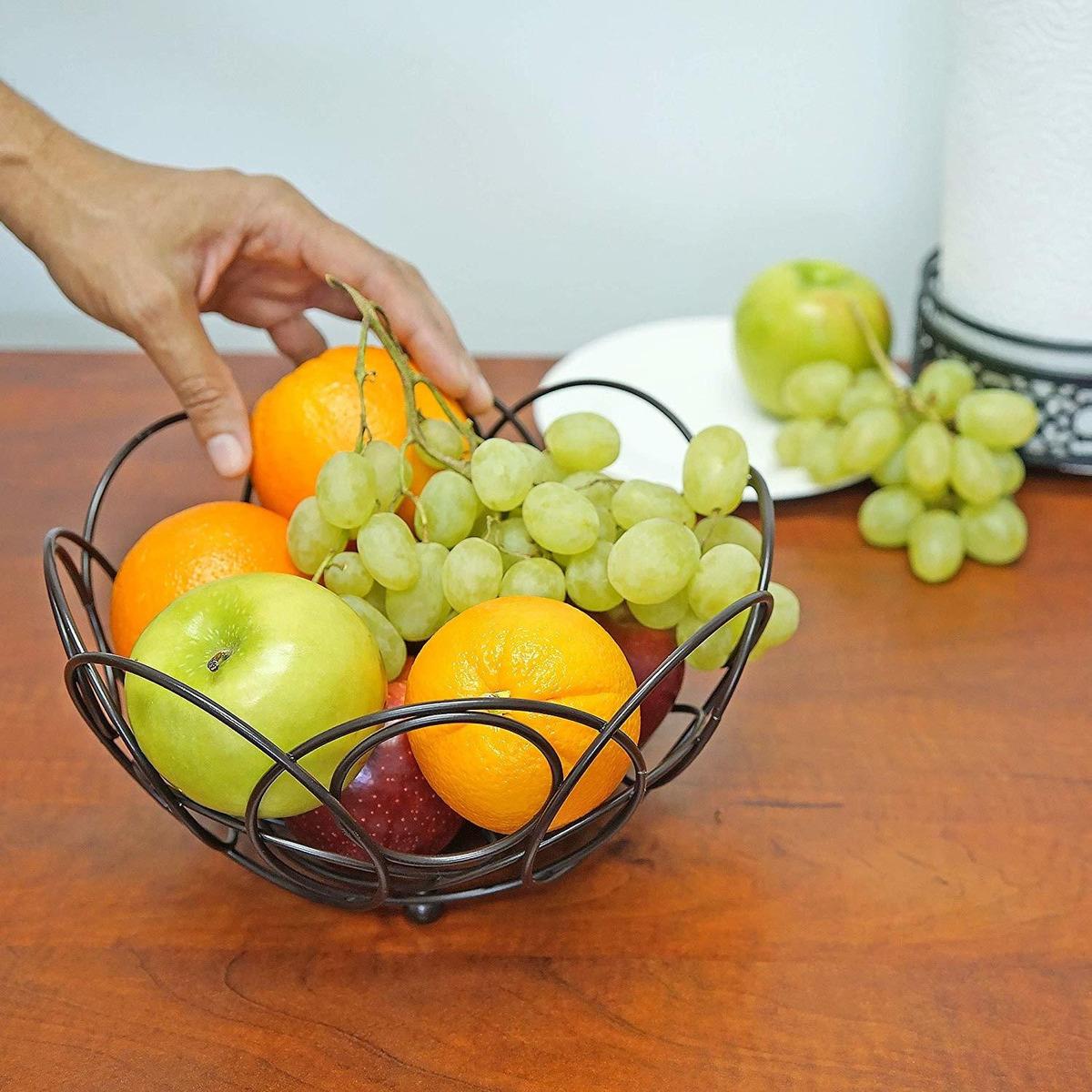 Southern Homewares SH-10237 Fruit Basket Aged Bronze One Size