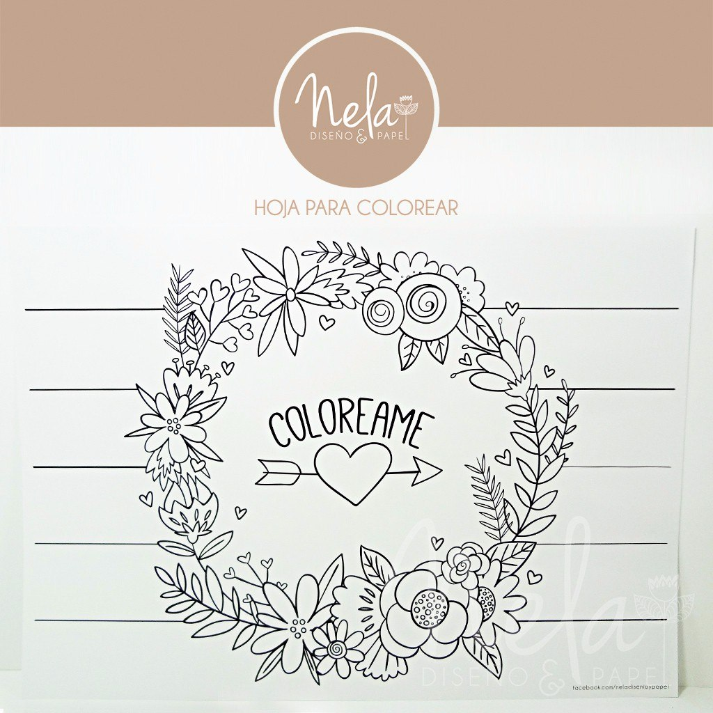 Hoja Para Colorear - Kit Imprimible Y Editable Shabby Chic - $ 25,00 ...