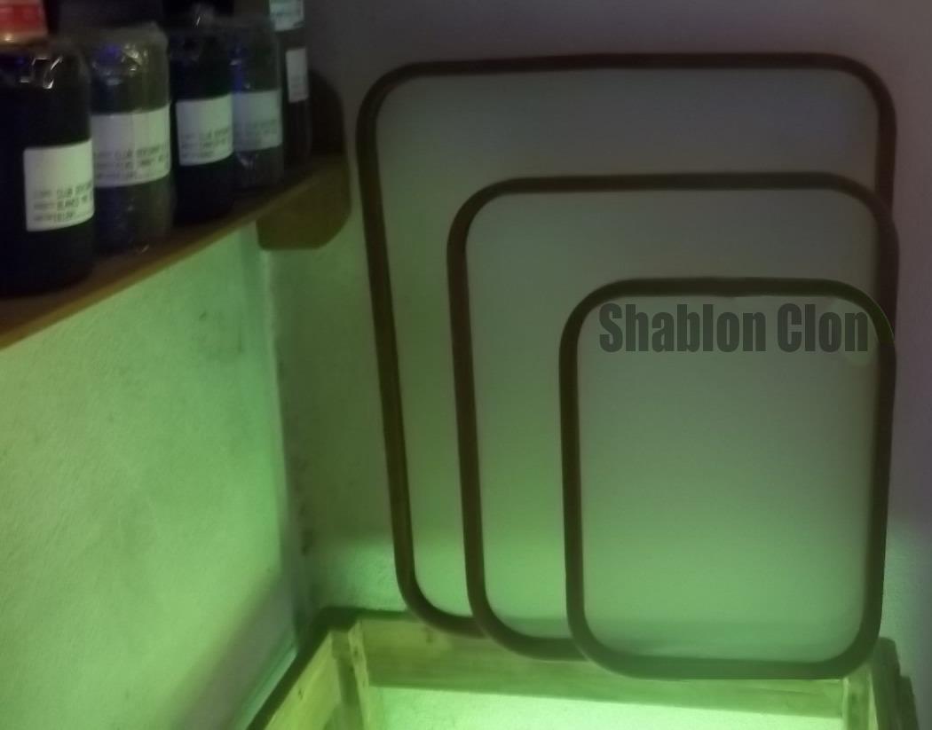 Shablon De 64 Hilos De 40x50, Marco De 25-15-09 Serigrafia - $ 250 ...