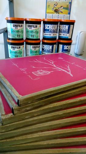 shablones 40x50 serigrafia estampado textil