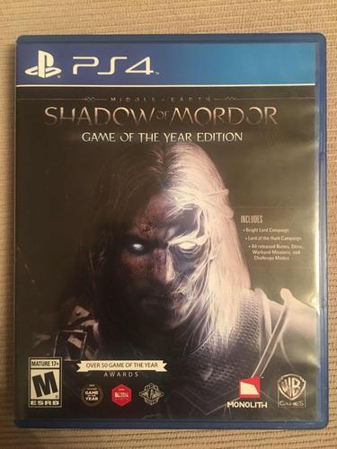 shadow of mordor ps4 fisico