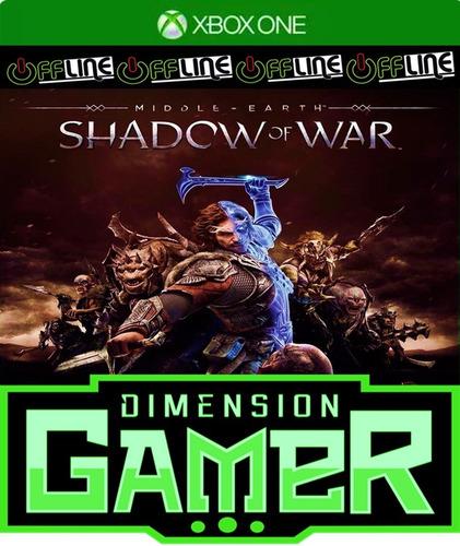 shadow of war - xbox one - no codigo - off-line