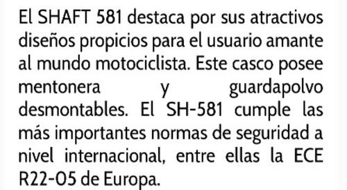 shaft 581 reglamentario integral certificado euro  colores