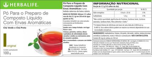 shake 550g + cha verde termogenico original 50g - herbalife