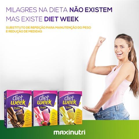 shake diet week baunilha 3x360g maxinutri