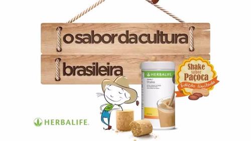 shake herbalife paçoca pote 550g controle de peso nutrição