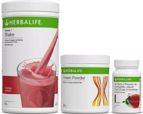 shake, proteína, chá -herbalife - original com validade 1ano