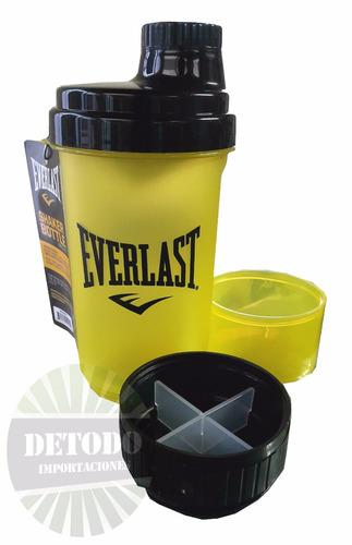shaker profesional everlast 3-1 proteina 650ml gym gimnasio