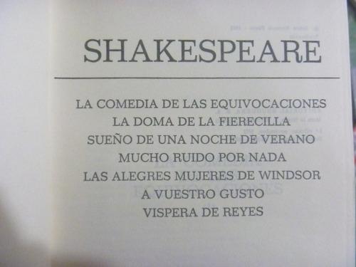 shakespeare. comedias. bruguera, méxico, 1977