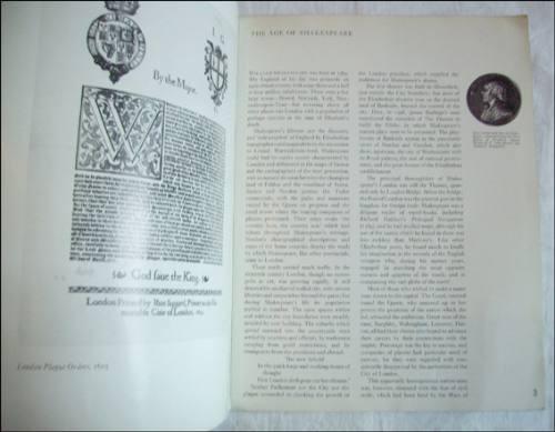 shakespeare. folleto de una exposicion. en ingles