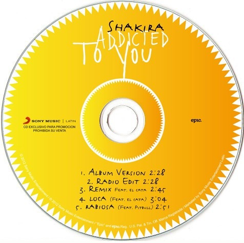 shakira addicted to you cds de musica solo cd