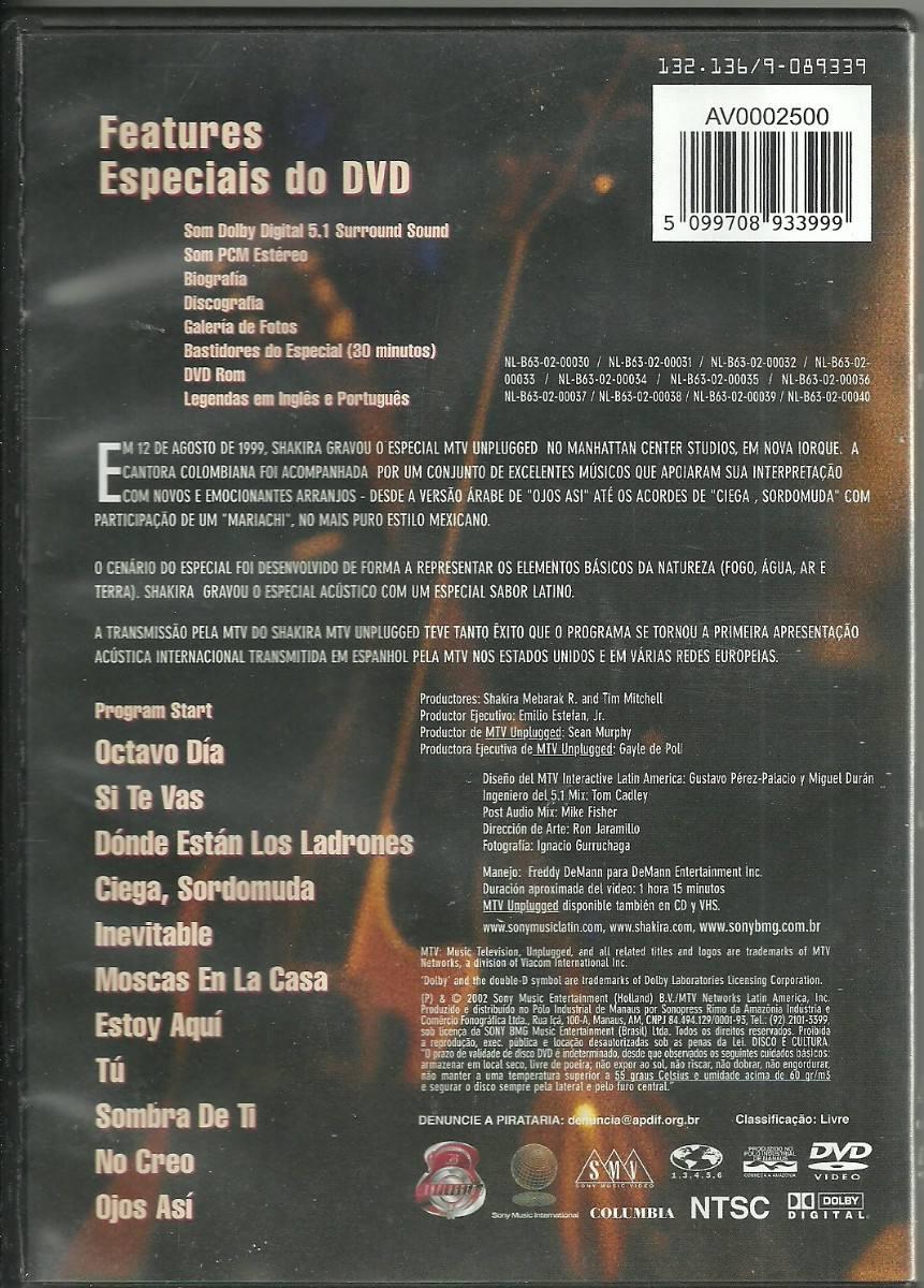 Shakira - Dvd - Ver O Video