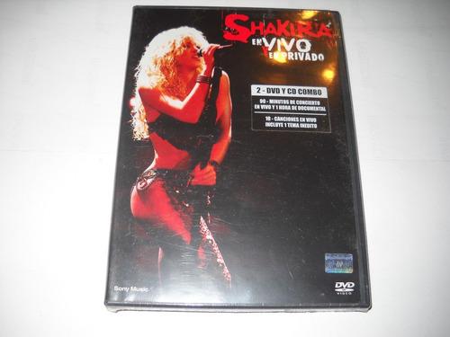 shakira - en vivo y en privado, cd + dvd original, nuevo.