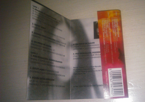 shakira the remixes cassette
