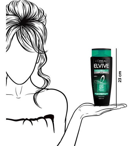 shampoo 2 en 1 caída resist men elvive 680 ml l'oréal paris
