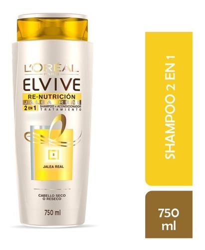 shampoo 2 en1 l'oréal elvive re nutricion 750 ml