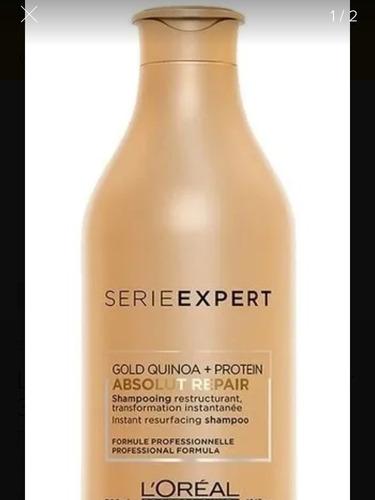 shampoo absolut repair gold quinoa x 300 ml loreal pro