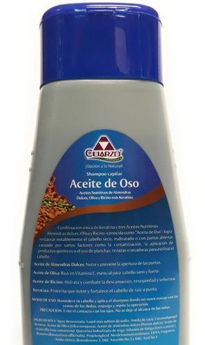 shampoo aceite de oso cuarzo 550 ml
