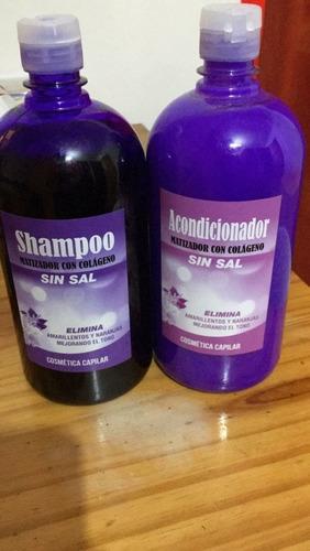 shampoo+ acondicionador matizador 1 litro