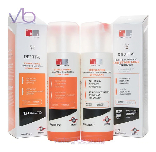 shampoo + acondicionador revita stimulating  ds laboratories