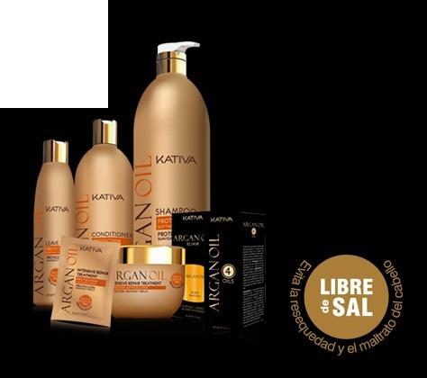 shampoo, acondicionador y tratamiento intensivo kativa s/sal