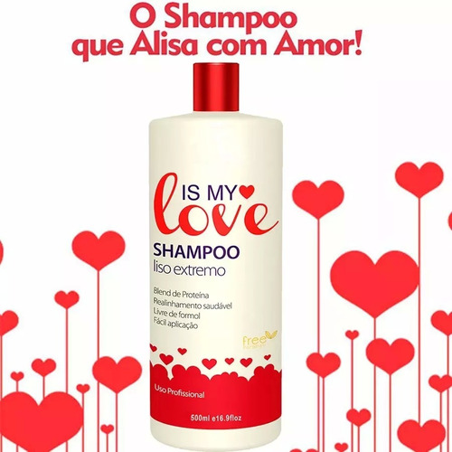 shampoo alisante reconstrutor liso extremo is my love 500ml