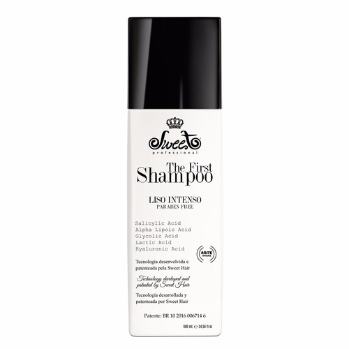 shampoo alisante the first sweet 980 ml + prancha gratis