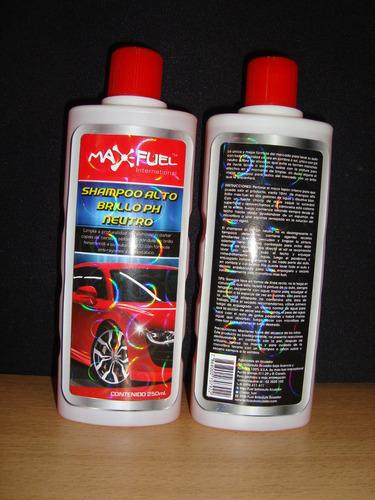 shampoo alto brillo libre de silicona y detergentes.