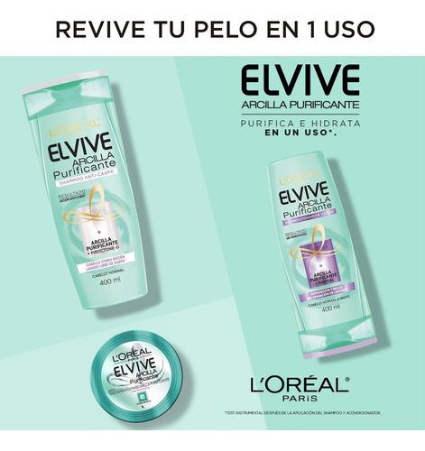 shampoo anti caspa arcilla purifica x400 elvive loreal paris