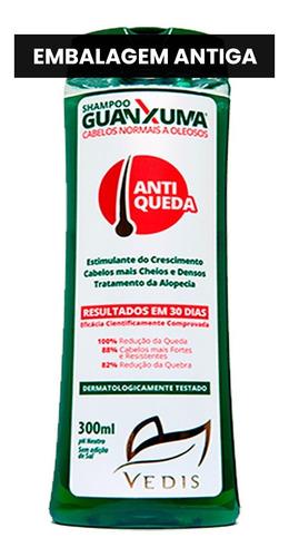 shampoo antiqueda guanxuma oleosos 2 x 300ml - vedis