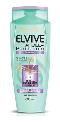 shampoo arcilla purificante elvive 680 ml l'oréal paris
