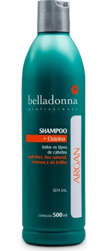 shampoo argan belladonna  500 ml promoção