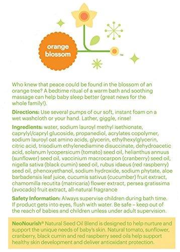 shampoo baño de bebé babyganics sin lágrimas 16 oz.