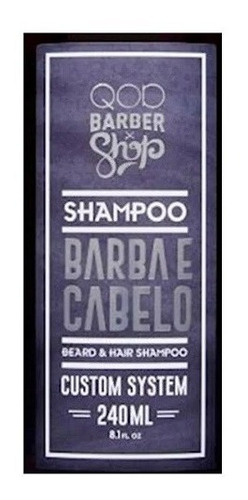 shampoo barba e cabelo qod 240ml