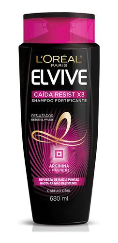 shampoo cabello caída resist x3 elvive 680 ml l'oréal paris