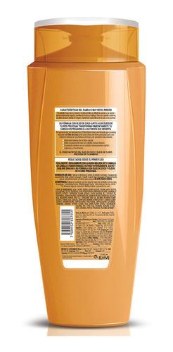 shampoo cabello seco óleo coco elvive 680ml l'oréal paris