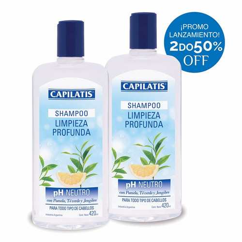 shampoo capilatis limpieza profunda -ph neutro- promo!